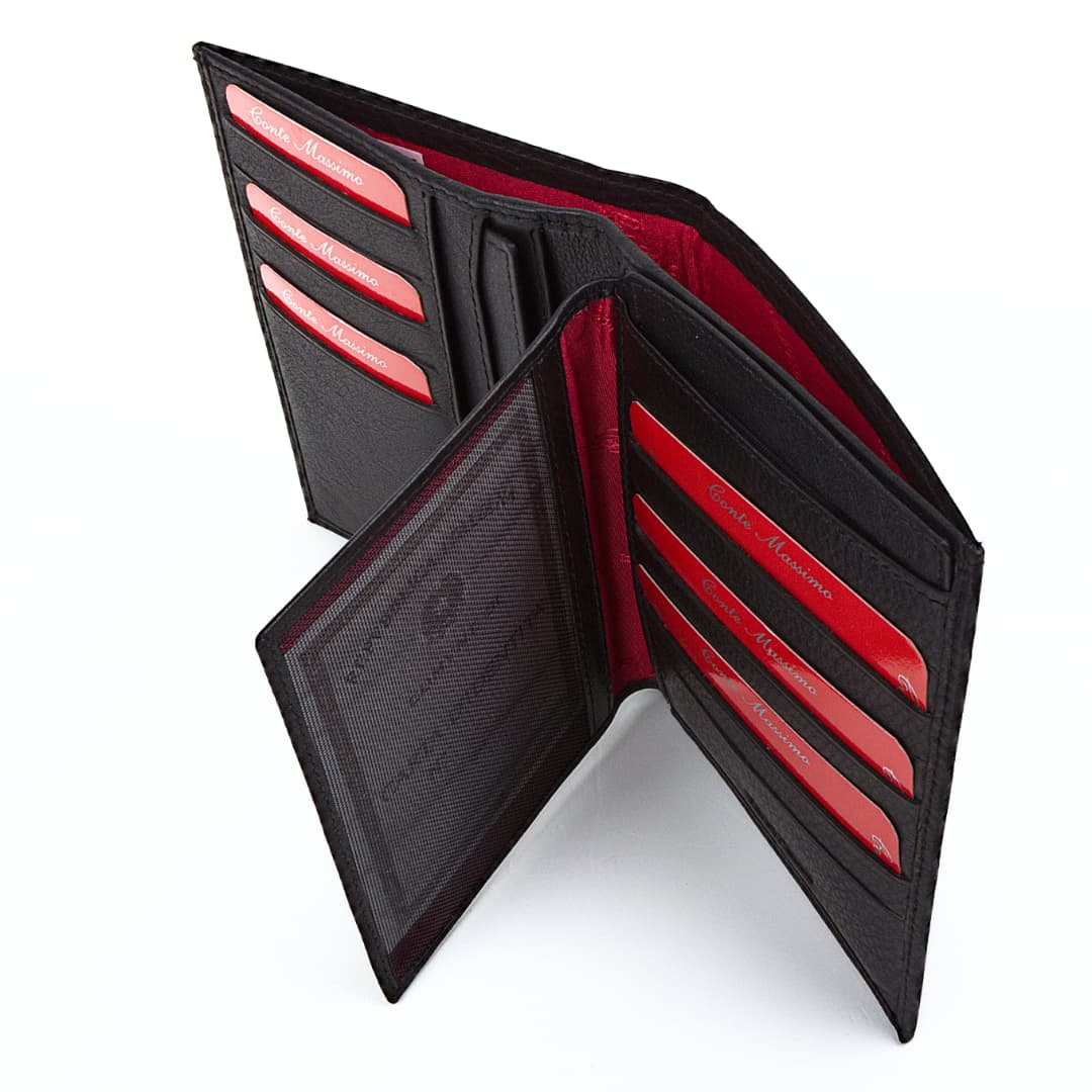Men's leather wallet Conte Massimo | Cards