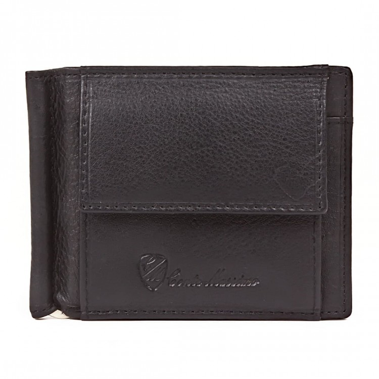 Money clip leather wallet Conte Massimot | Clipi