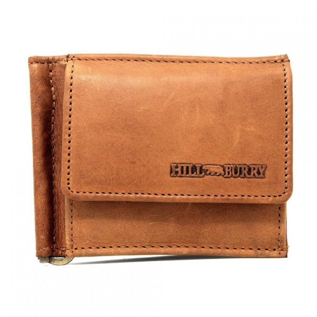 Money clip leather wallet Hill Burry | Secure