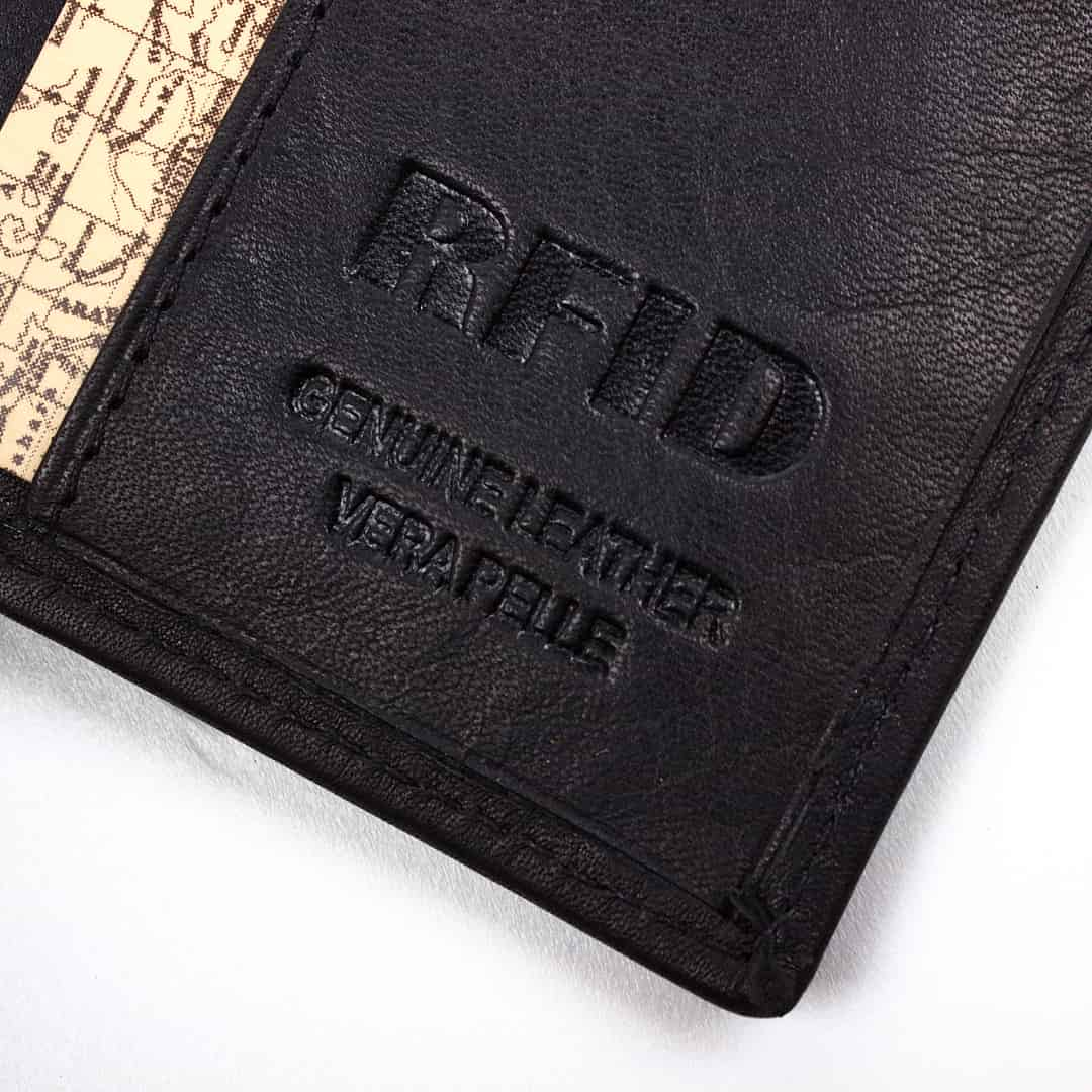 Leather wallet for credit card Natural Hunt | Safely