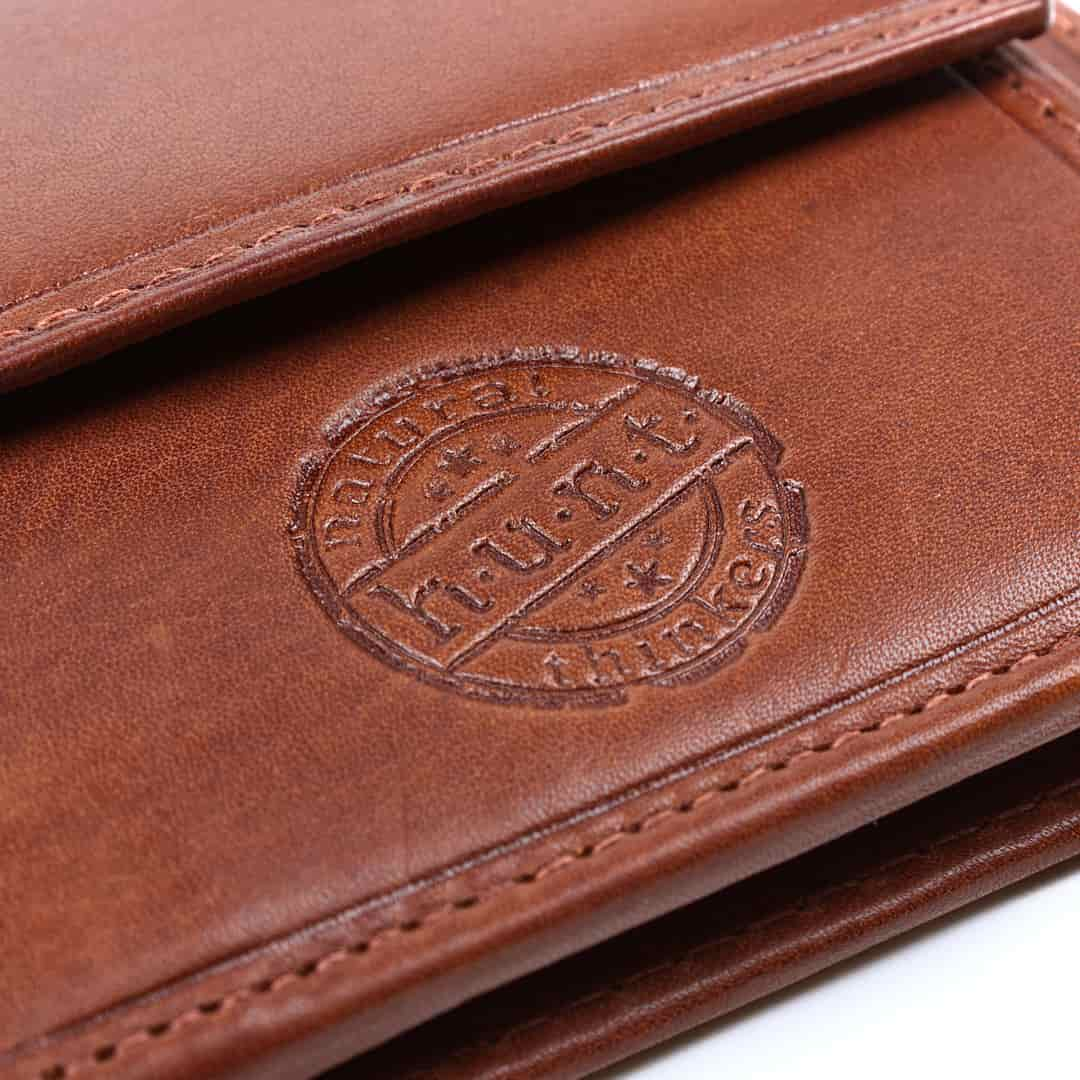 Money clip leather wallet Natural Hnut | Rfid