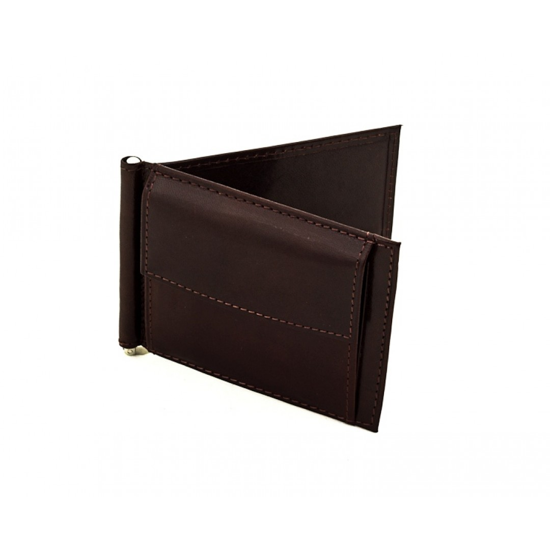 Men's leather wallet with money clip Optimist | 8112