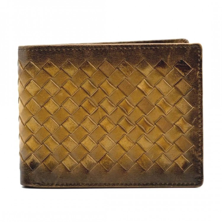 Men's leather wallet Optimist | Knitted
