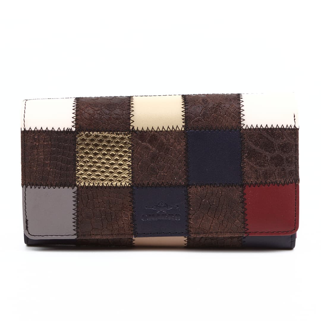 Ladies big leather wallet Charro | Square