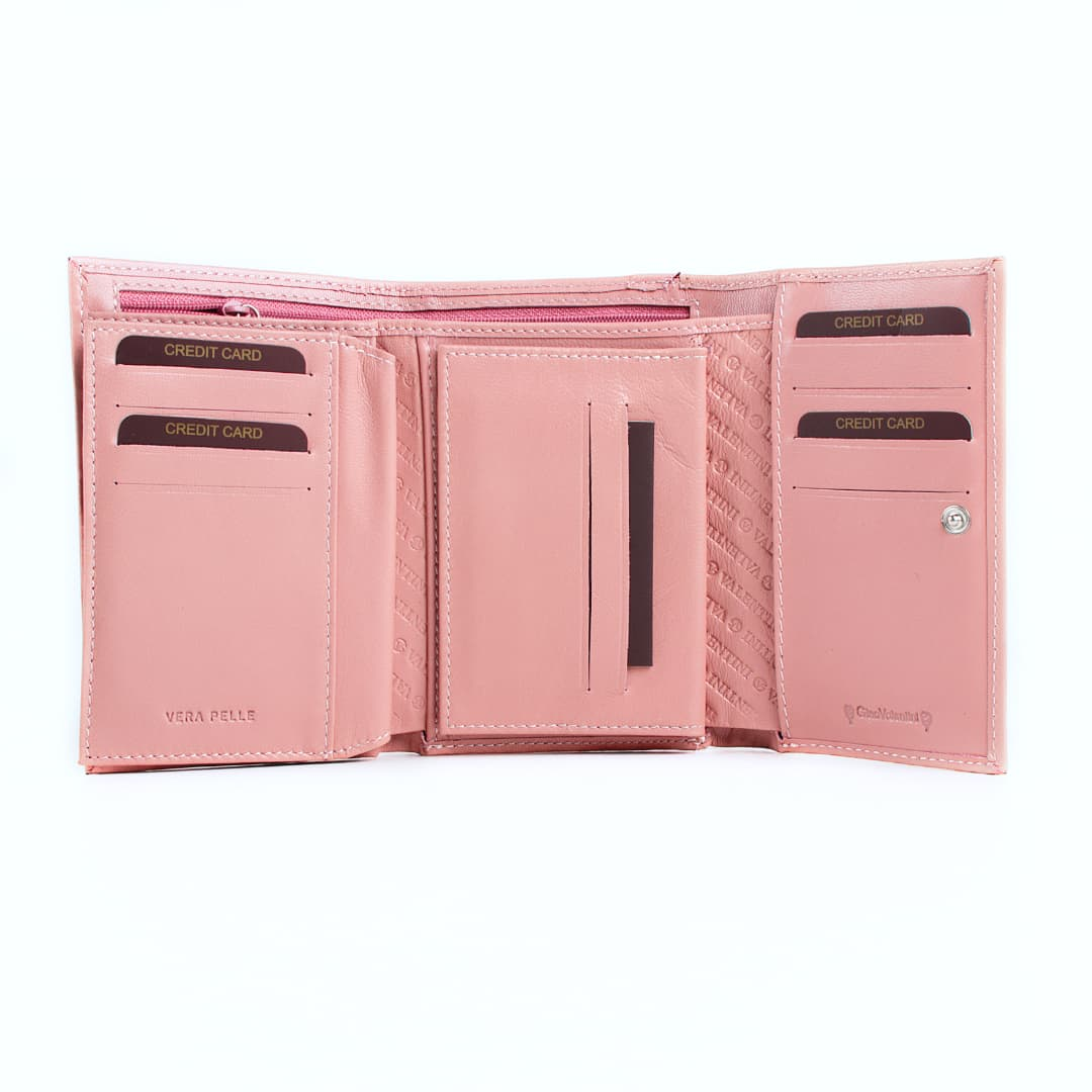 Leather wallet for women Valentini | Rosa
