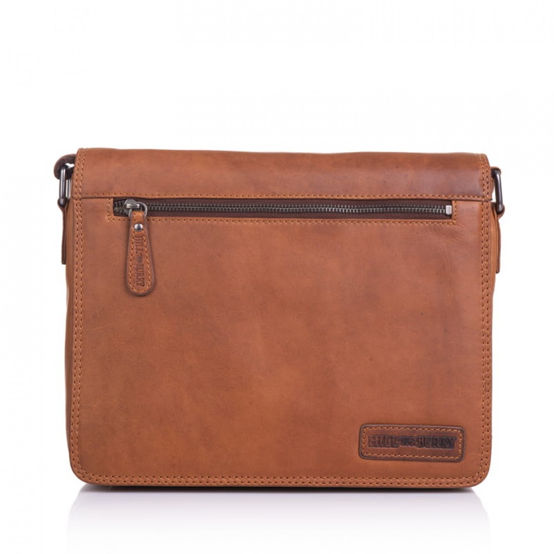 Business leather bag Hill Burry Fit