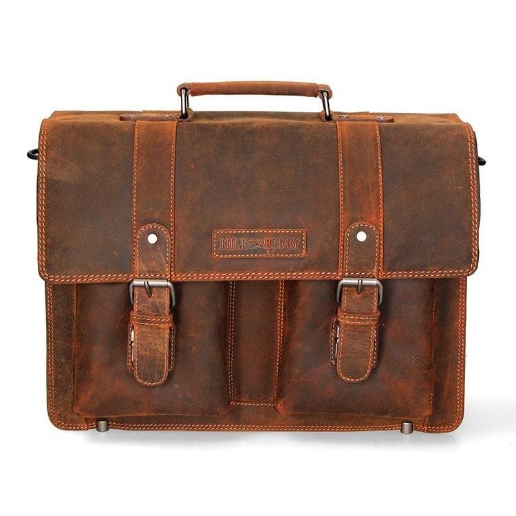 Kožna poslovna torba Hill Burry | Durable