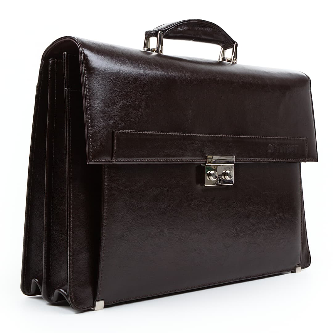 Business leather bag Optimist | Logan