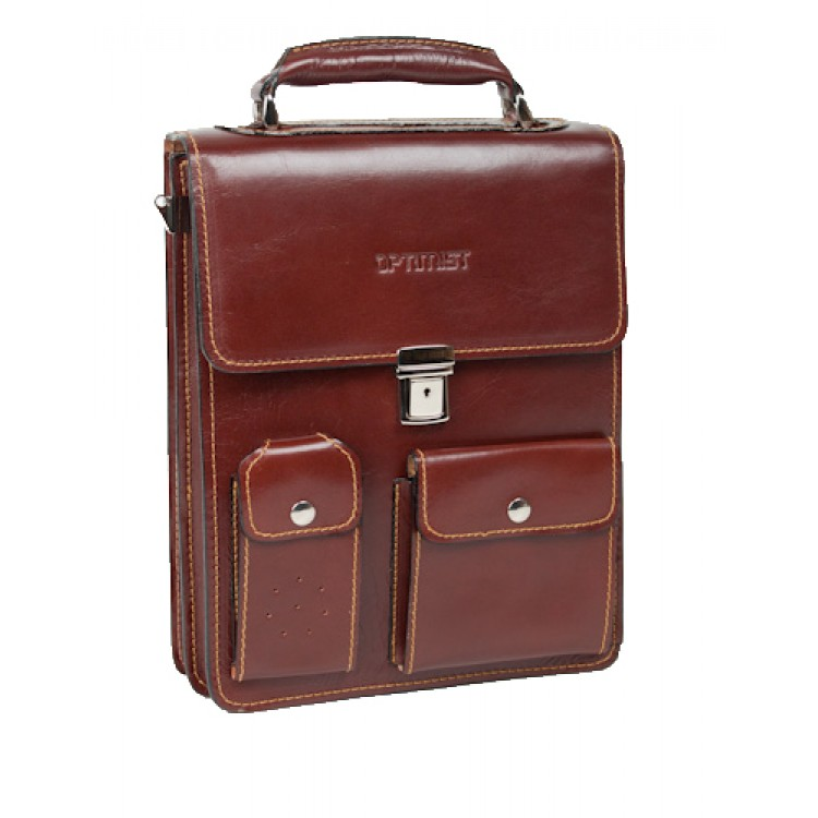 Leather business bag Optimist | 03276