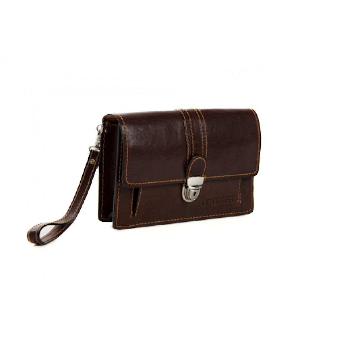 Leather hand bag Optimist | 03285