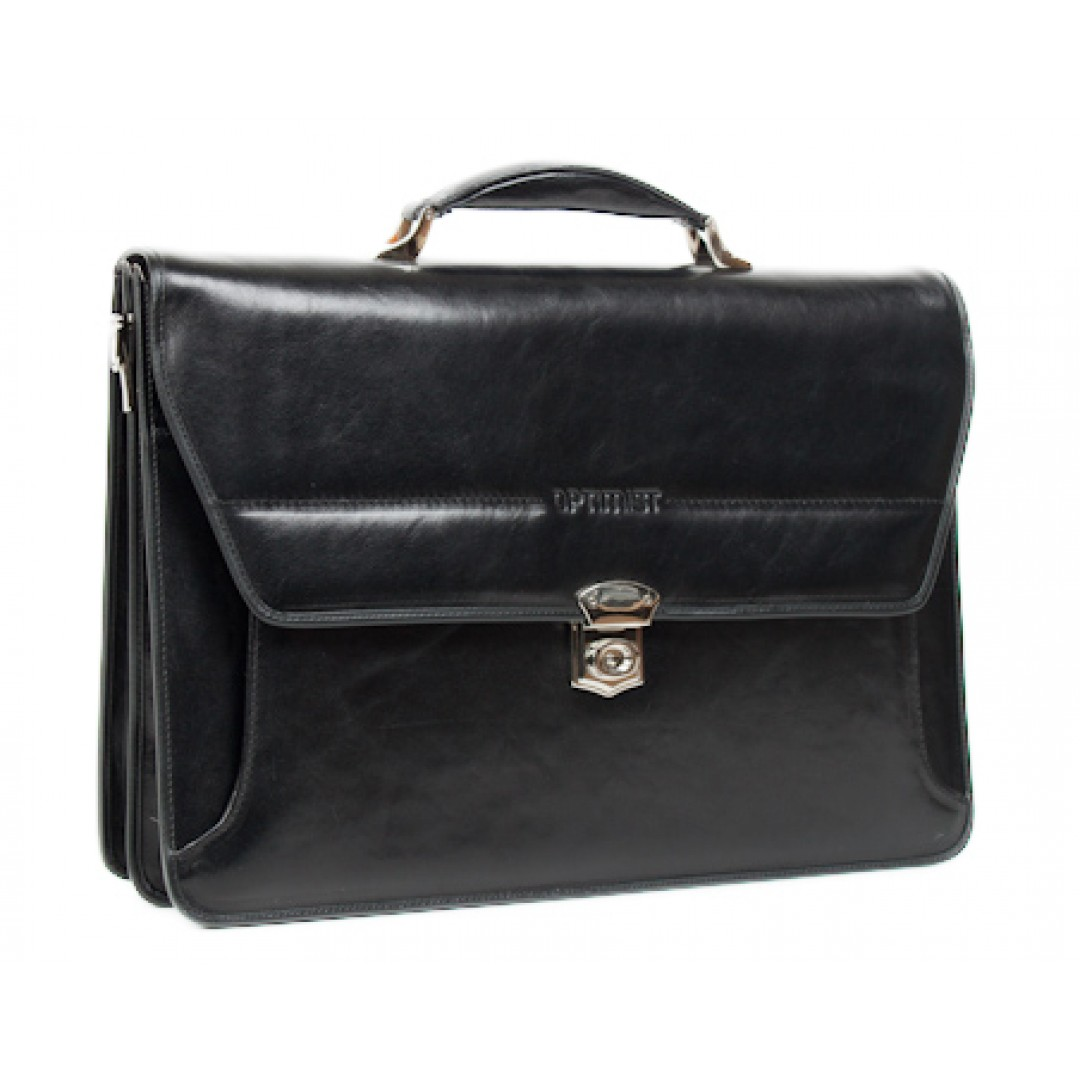Leather business bag Optimist | 03296
