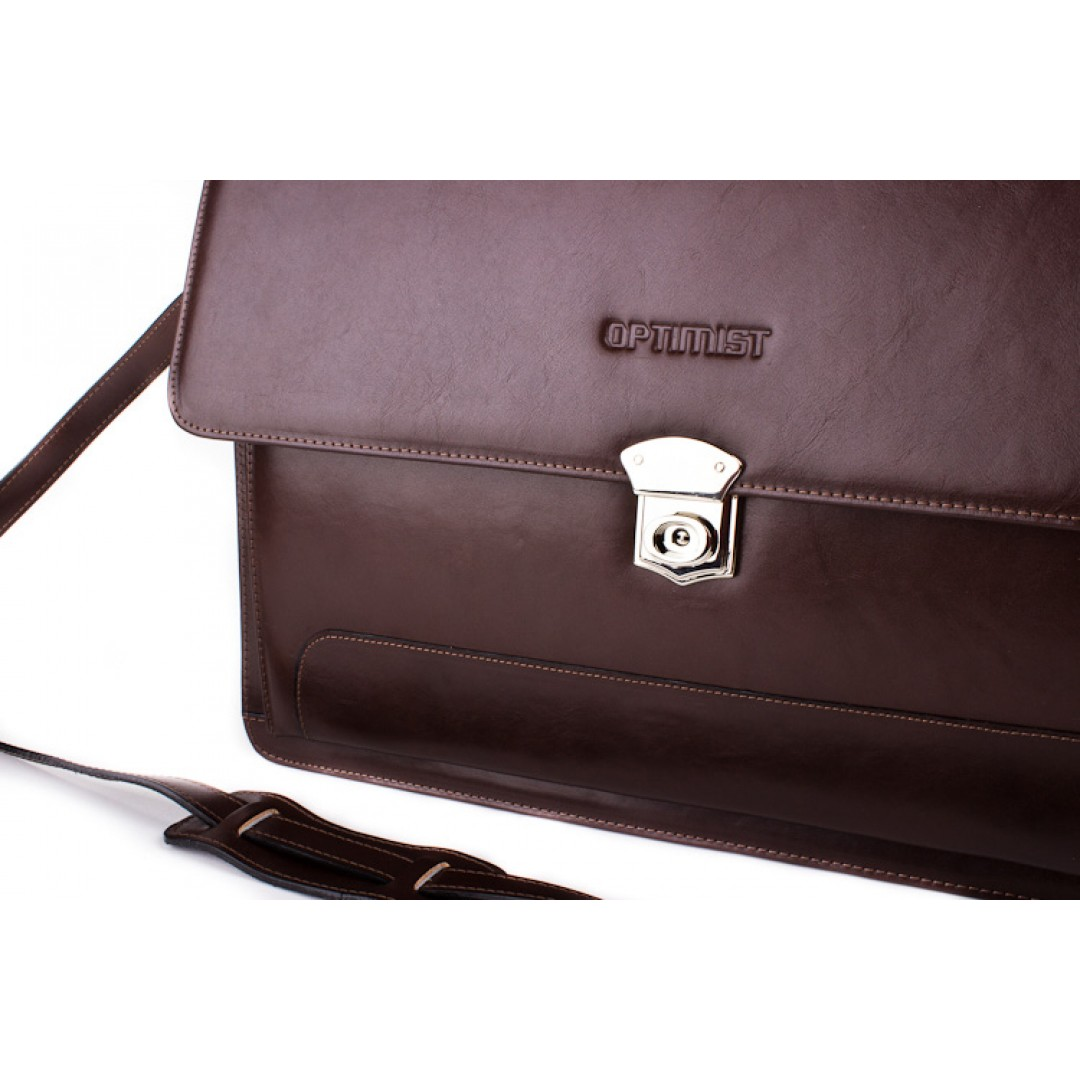 Leather business bag Optimist | 04009