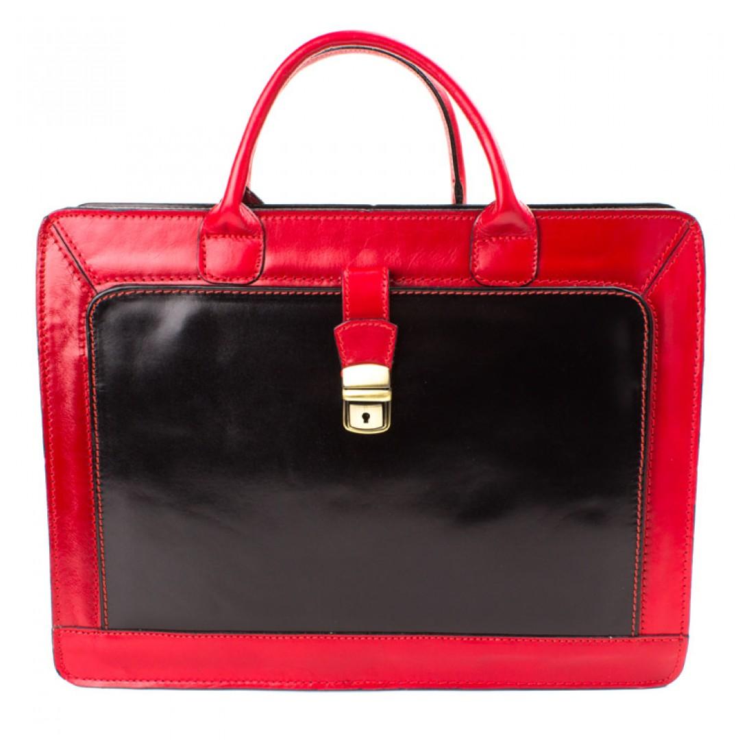 Leather business bag Optimist | 20005