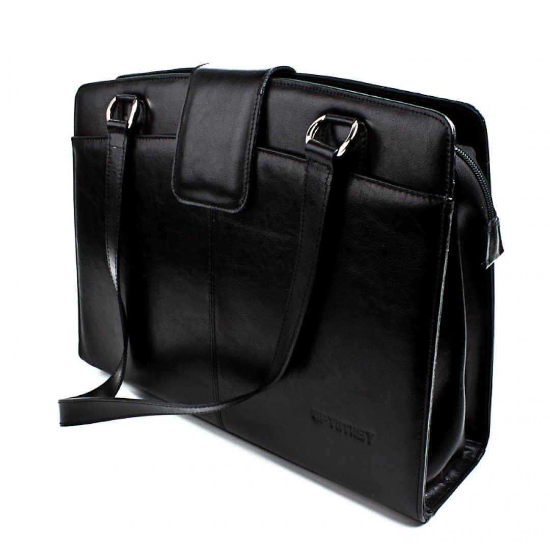 Leather business bag woman Optimist | 2048