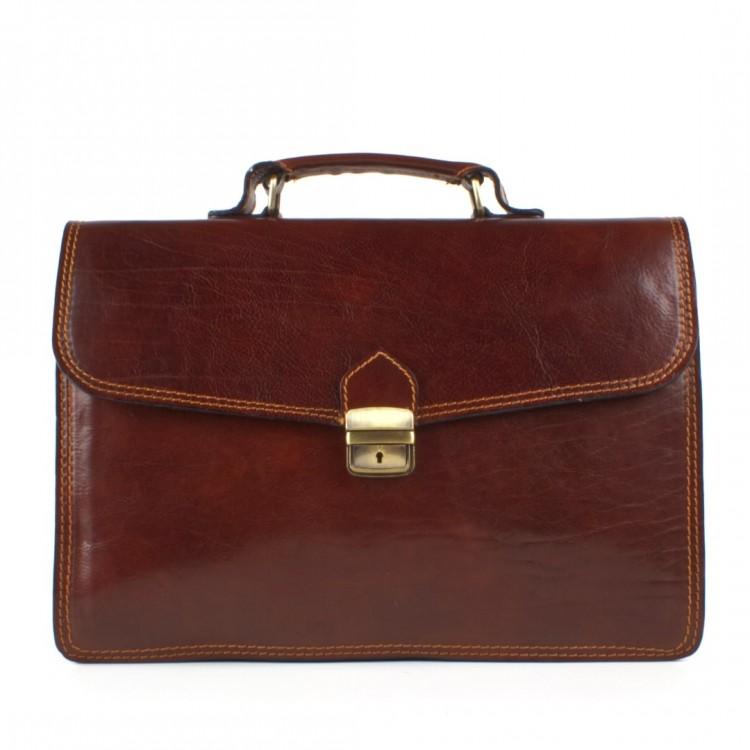 Leather business bag Optimist | Giorgio