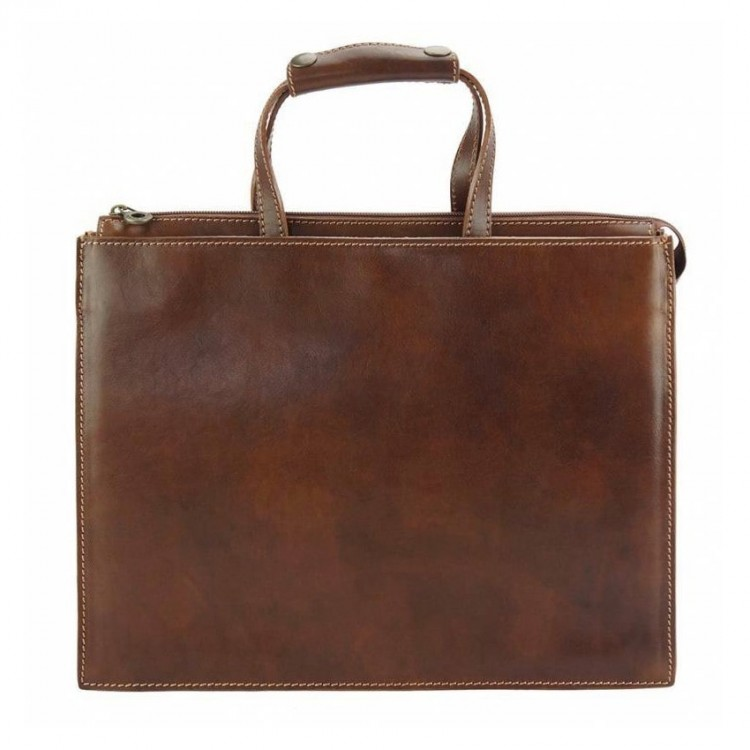 Leather business bag Optimist | Thiny