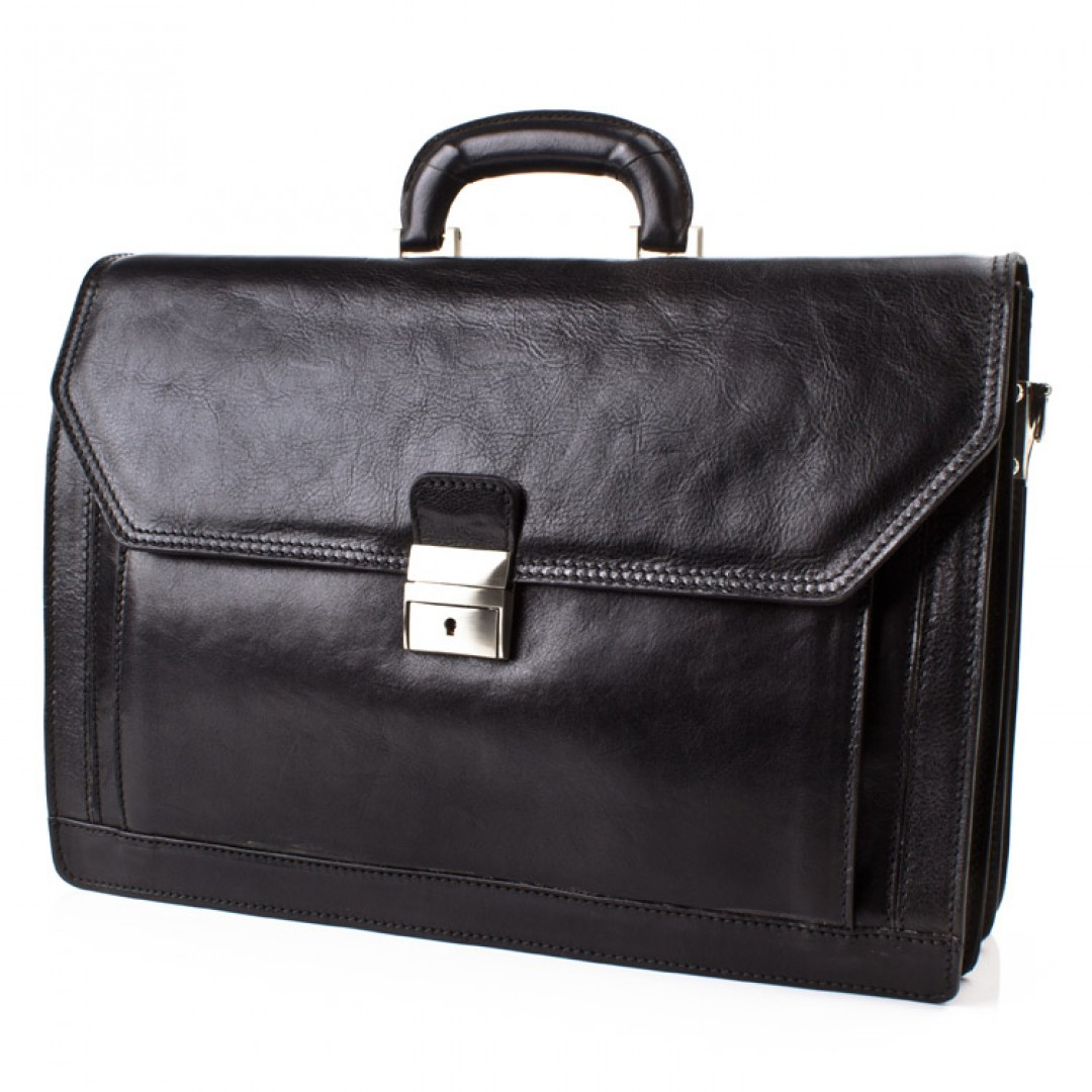 Leather business bag Optimist | OP870550