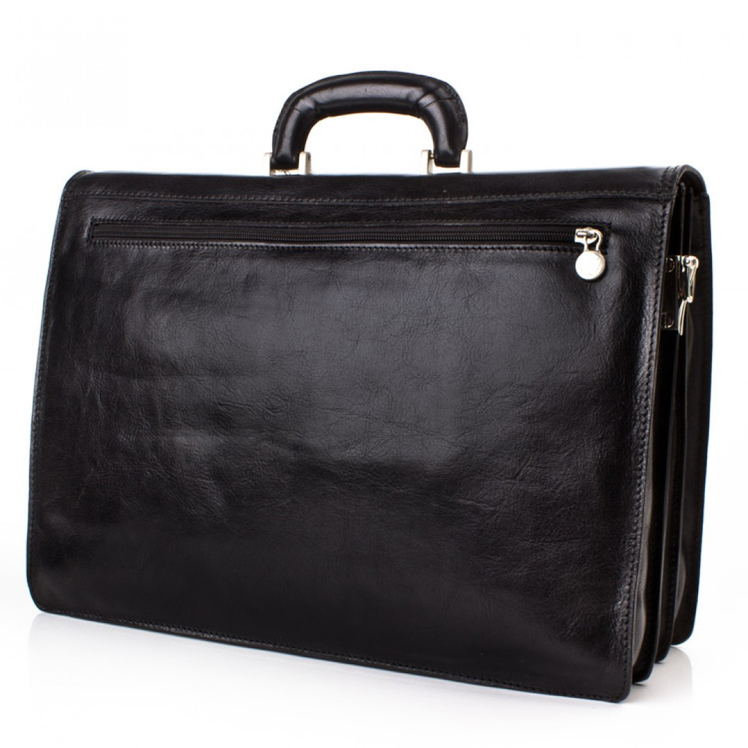 Leather business bag Optimist | OP870550