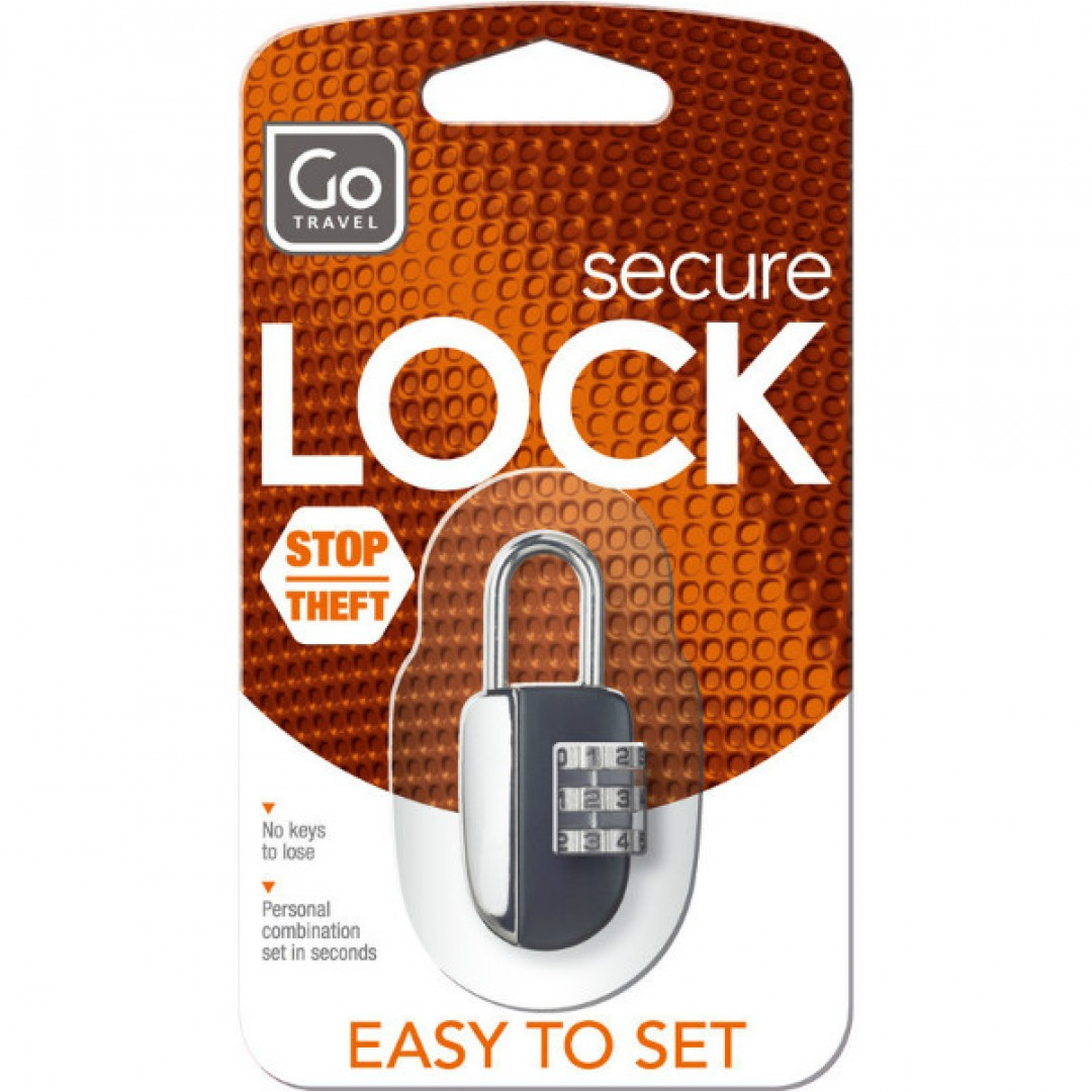Case lock No-Key Padlock | Go Travel