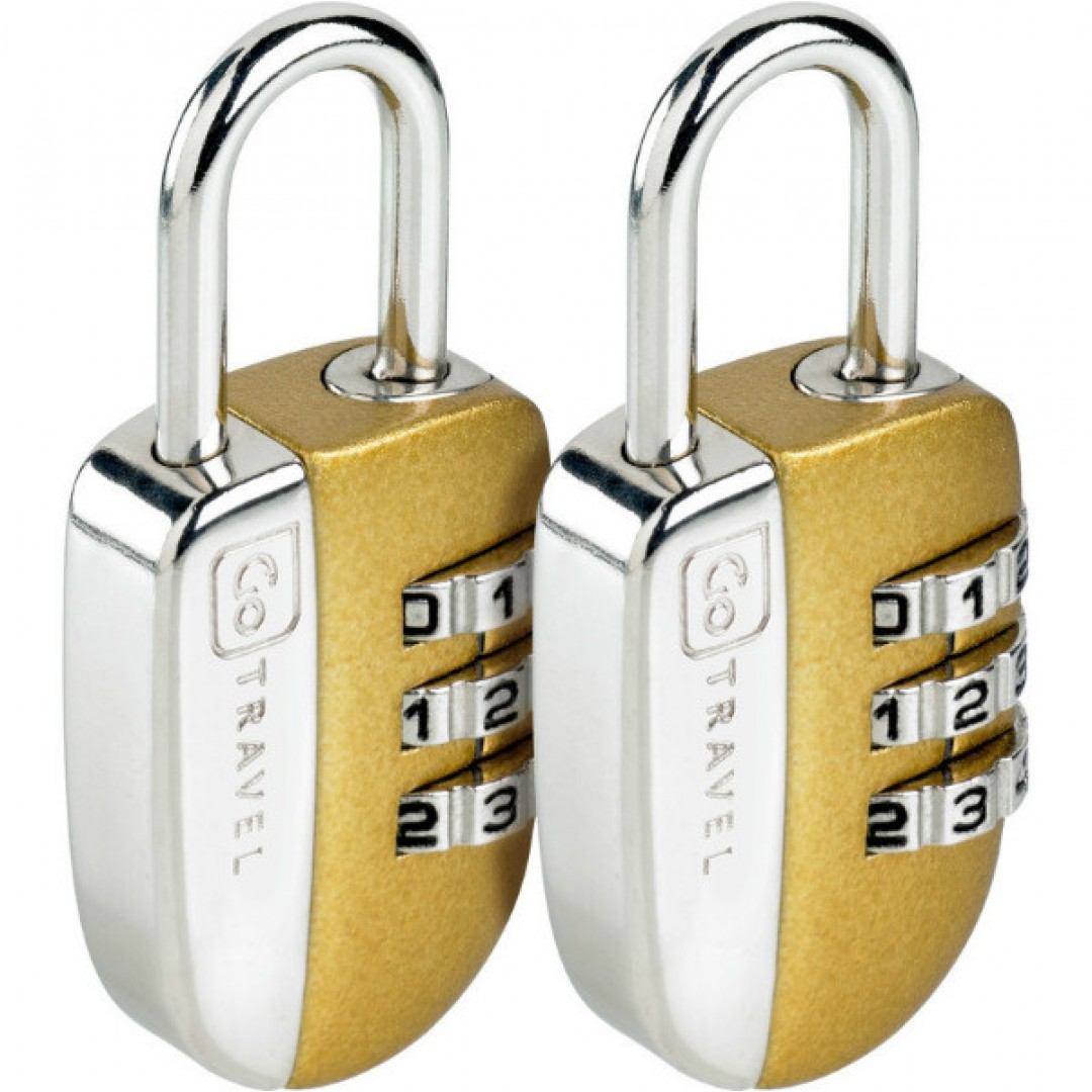 Case lock No-Key Padlock twin | Go Travel