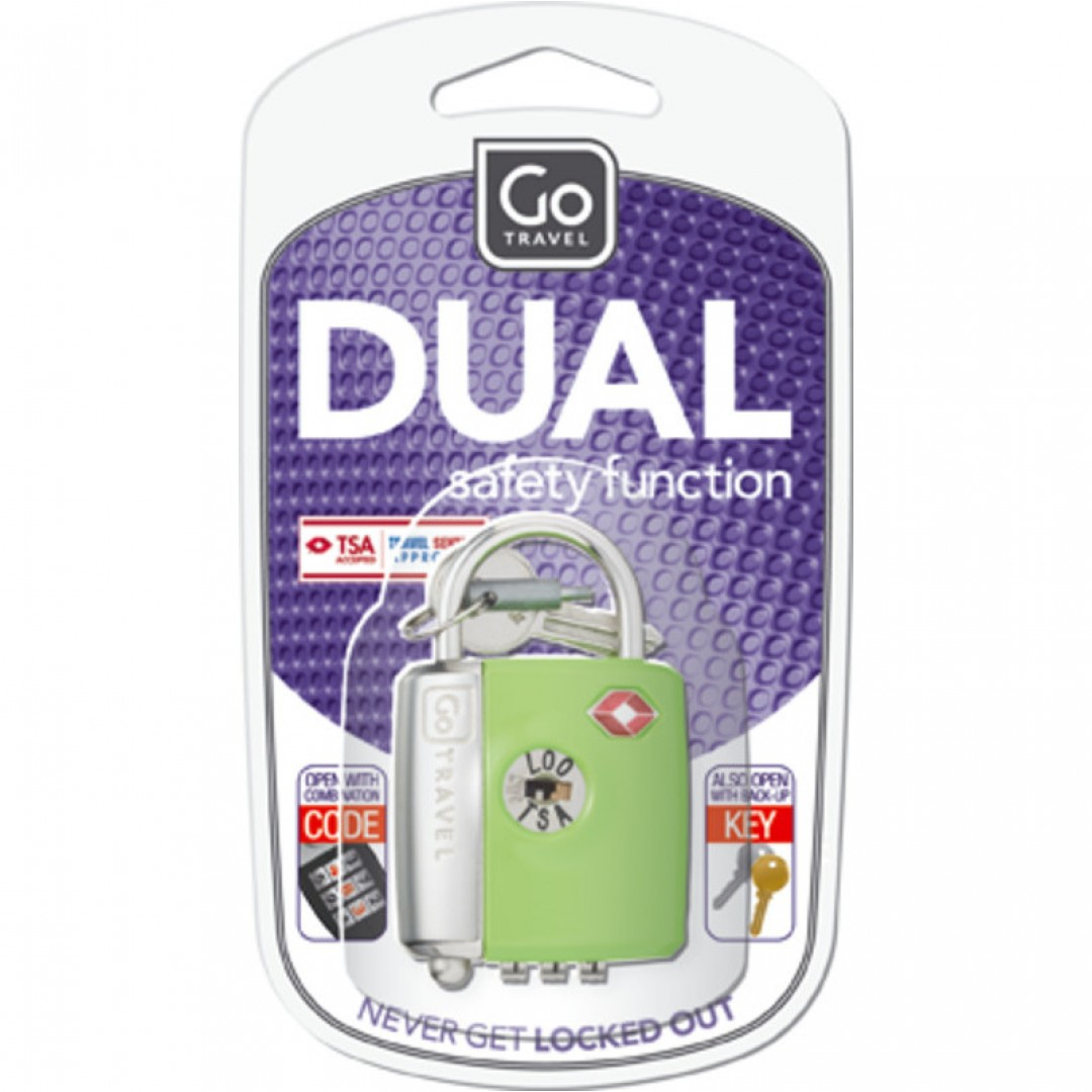 Dual Combination Key Lock | Go Travel