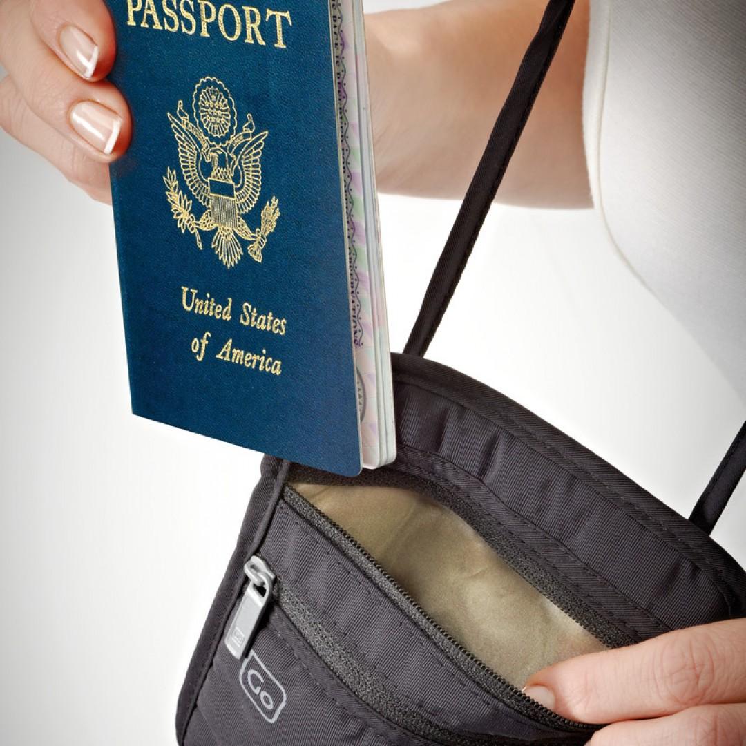 Putni novčanik za nošenje oko vrata RFID zaštita | Go Travel