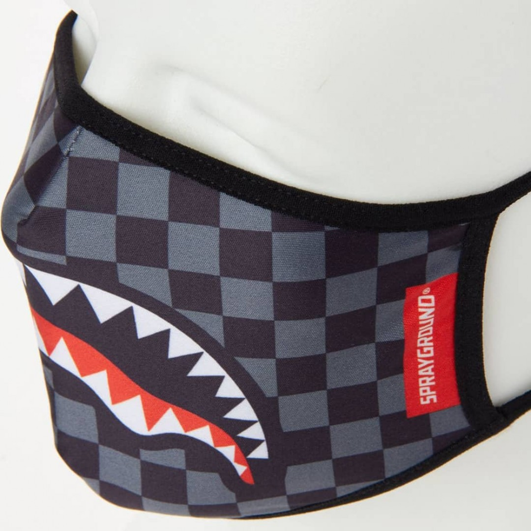 Face mask Sprayground | Checkered Shark