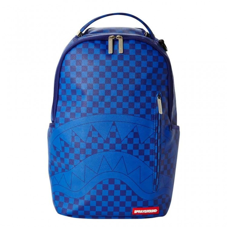 Backpack Sprayground | Blue Checkered Shark