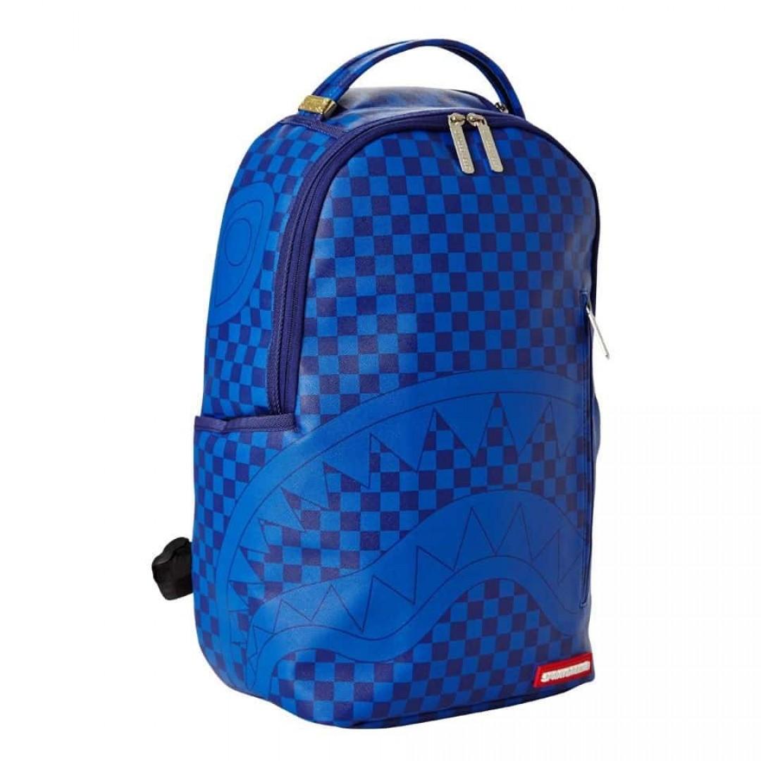 Backpack Sprayground | Blue Checkered Shark