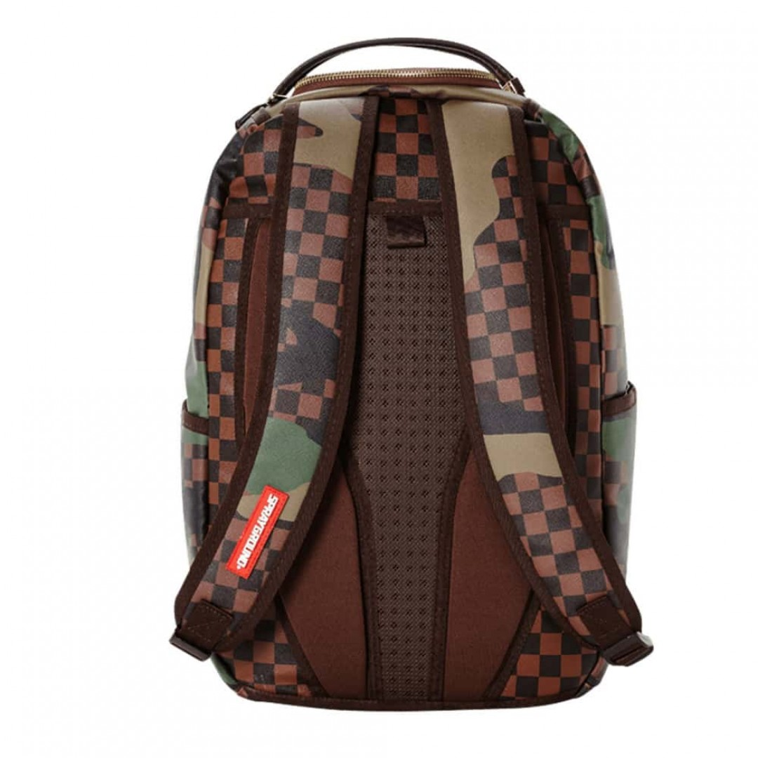 Backpack Sprayground | Checkered Camo Shark