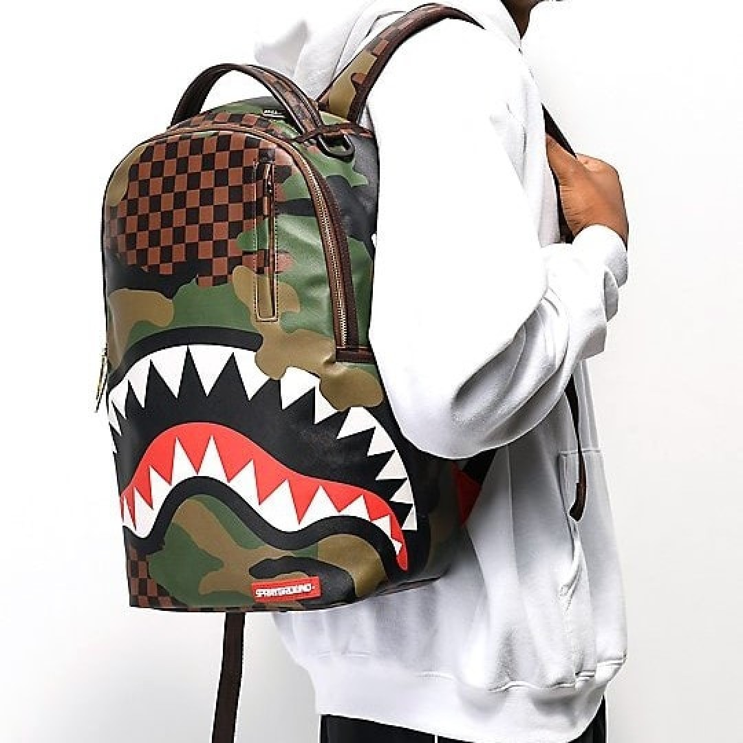 Rucksack Sprayground | Checkered Camo Shark