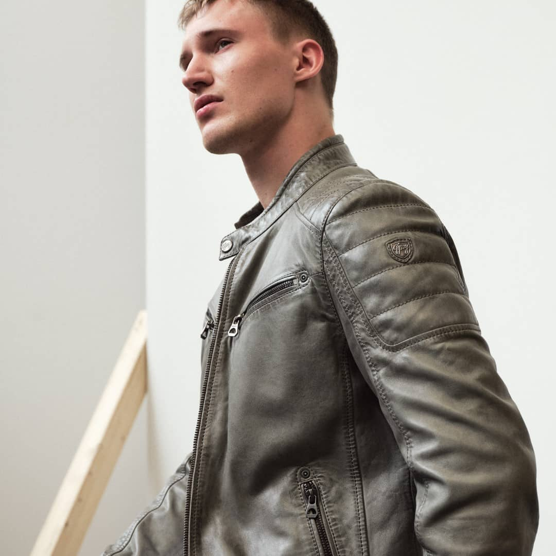Men's leather jacket GIPSY | Derry