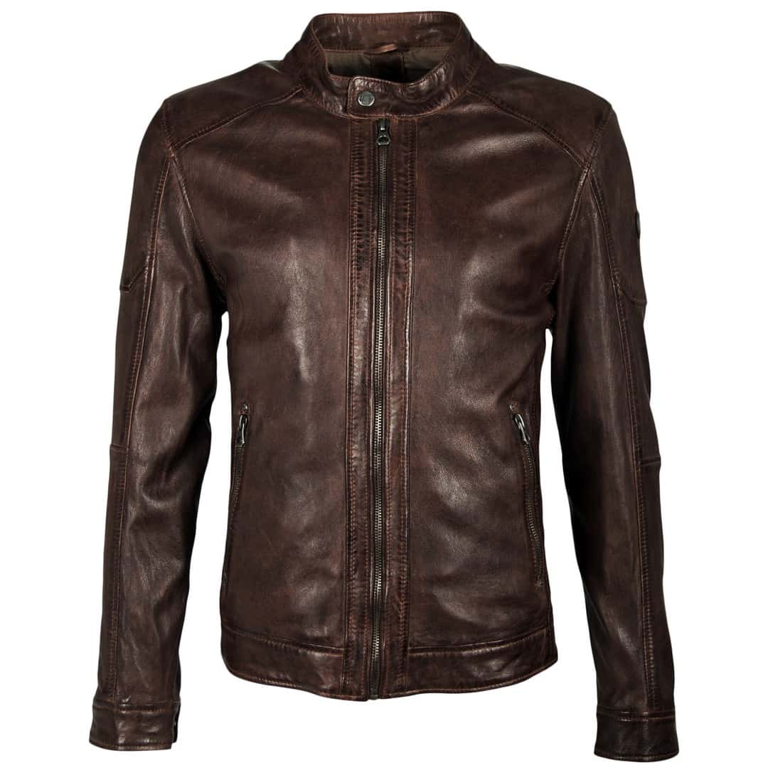 Men's leather jacket GIPSY | Milow