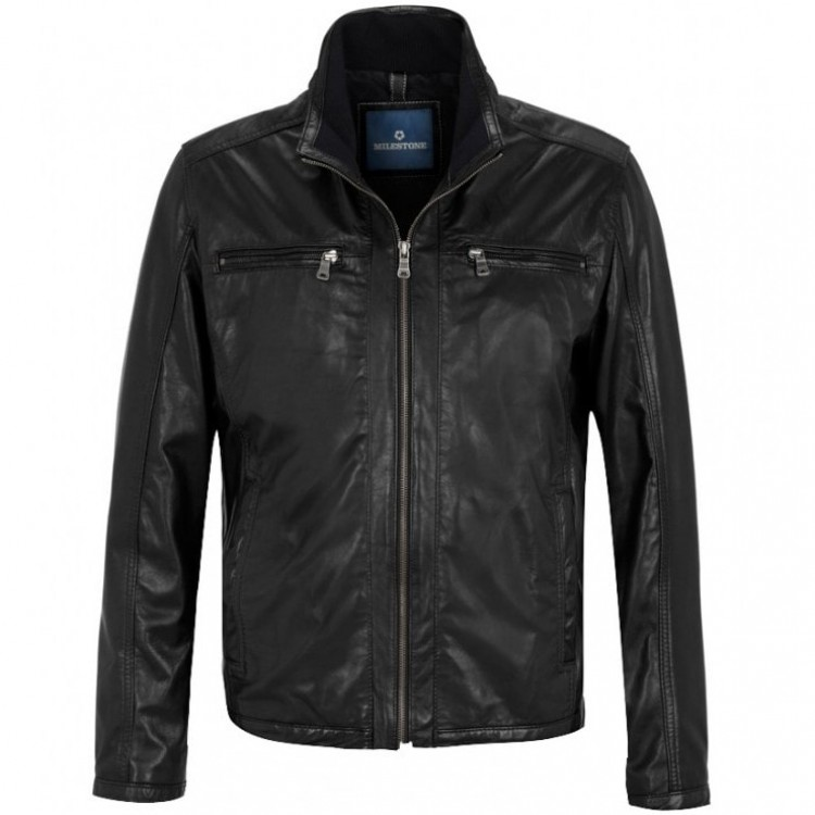 Men's leather jacket MILESTONE | Paco