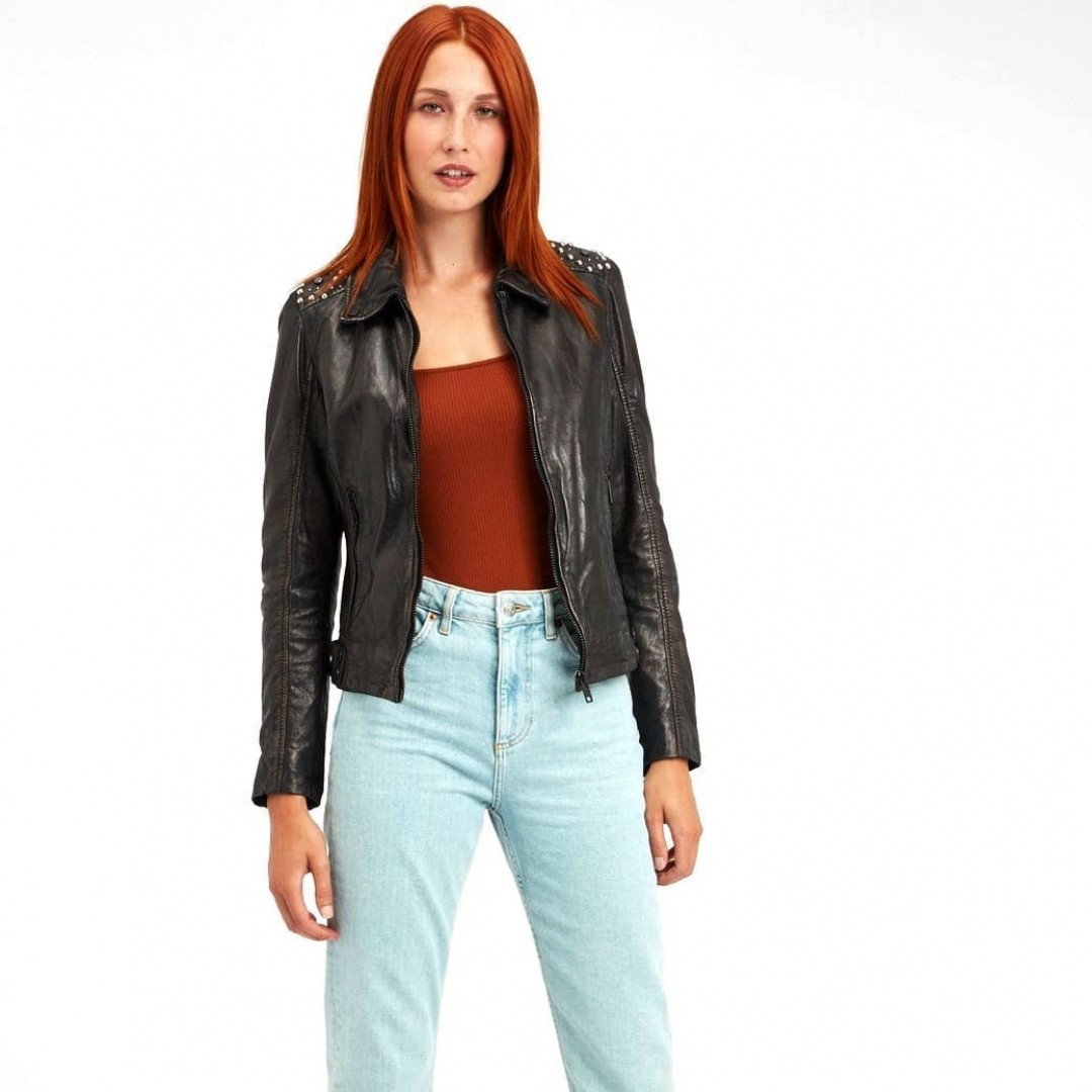 Ladies' leather jacket GIPSY | Lania