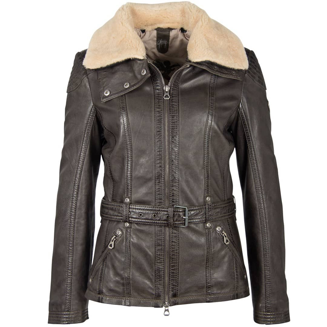 Women's leather jacket GIPSY | Cylia