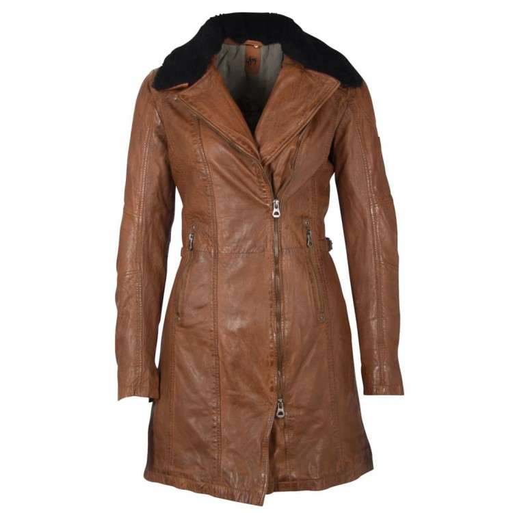 Ladies' leather coat GIPSY | Scylla