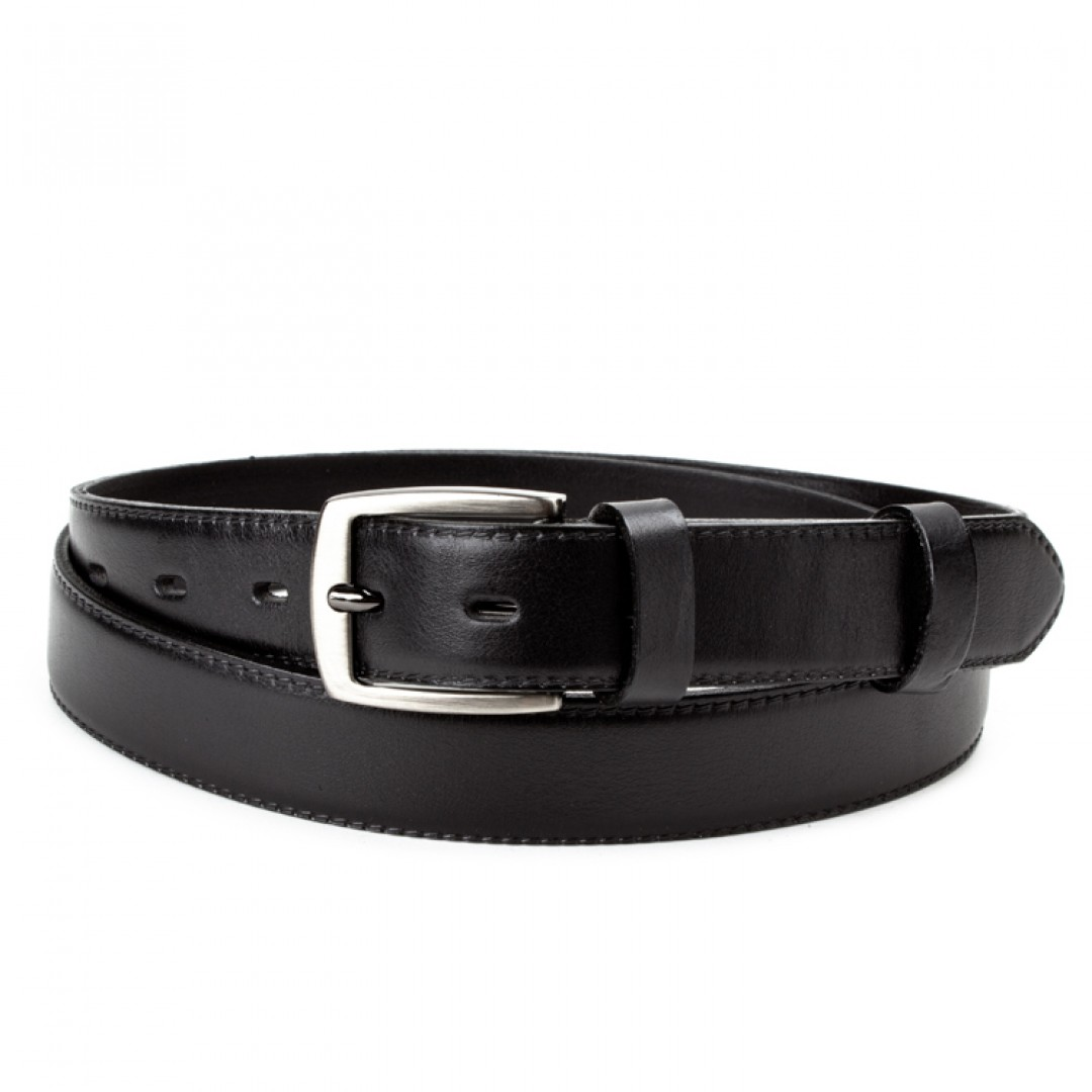Leather belt ELEGANT men Optimist | 30-020