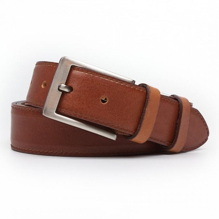 Leather belt ELEGANT men Optimist | 35-020-4