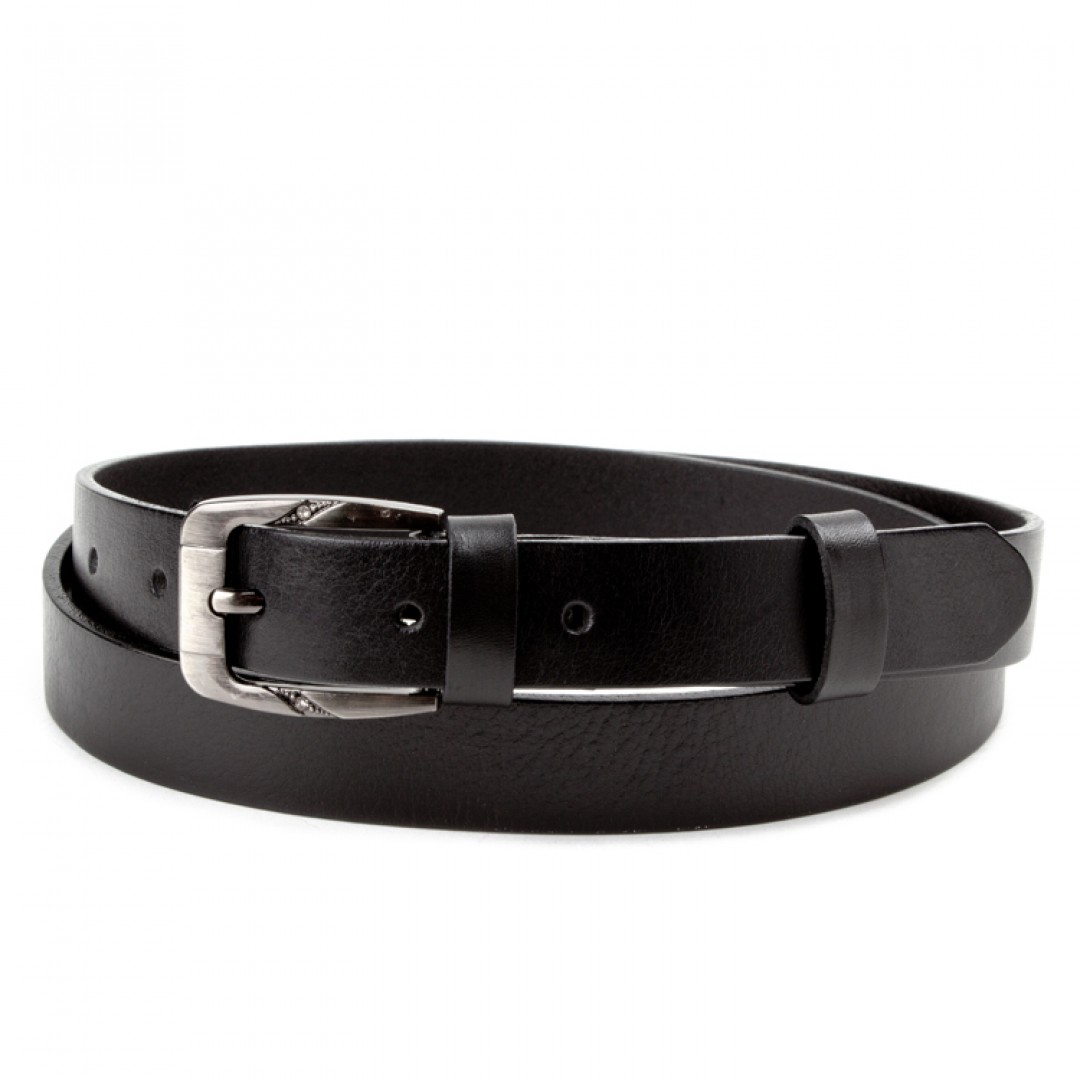 Leather belt ELEGANT female Optimist | 25-172