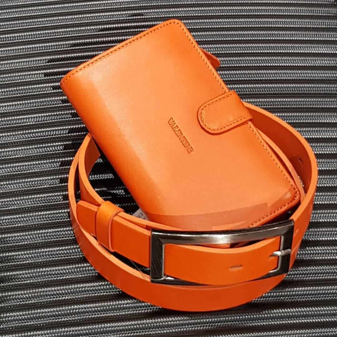 Leather belt ELEGANT female Optimist | 30-107